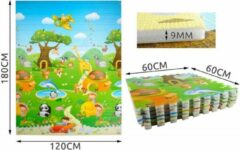 Rode GadgetTech Grote XL Speelmat puzzle Vloerkleed kinderen - Groot Baby & Kindervoerkleed speel puzzle - Dieren Kleed - Binnen & Buiten