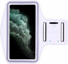 AYME Hardloop sportarmband telefoonhouder voor de iPhone 11 – Telefoonhouder hardlopen Speciaal voor de iPhone 11 – Inclusief ruimte voor een sleutel – Wit
