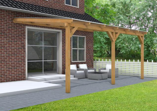 Afbeelding van Woodvision Douglasvision | Veranda 400x300 | Heldere dakplaat