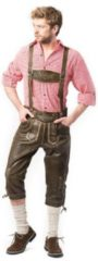 Bruine Tannhauser Boeren Tirol & Oktoberfest Kostuum | Ludwig Lederhose Retro Man | Maat 60 | Bierfeest | Verkleedkleding