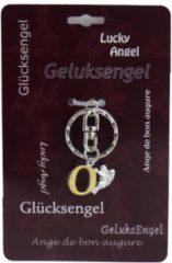 Zilveren Steengoed Geluksengel Sleutelhanger O