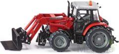 Rode Siku Massey Ferguson 894 tractor met voorlader rood (3653)