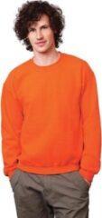 Gildan Oranje sweater voor dames en heren M