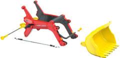 Rode Rolly Toys voorlader RollyTrac Premium geel/grijs
