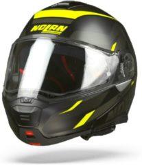 Nolan N100-5 LumiãˆRe 037 Zwart Geel Grijs Systeemhelm - Motorhelm - Maat S