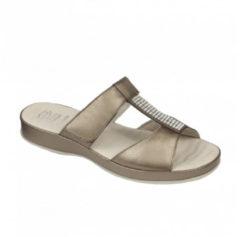 DR.SCHOLL'S Div.Footwear Dr Scholl Zelma Pea Leath Ciabatta In Pelle Donna Colore Brown Misura 37