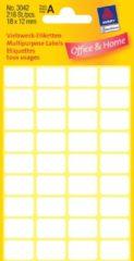 Avery Etiket Zweckform 18x12mm wit blister a 216 etiketjes