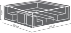 Antraciet-grijze Maxx Lounge set beschermhoes - 250 x 250 x 75 cm - rechthoekig