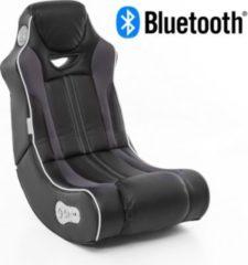 Wohnling ® Soundchair CHEATER in Schwarz mit Bluetooth Musiksessel mit eingebauten Lautsprechern Multimediasessel für Gamer 2.1 Soundsystem - Subwo