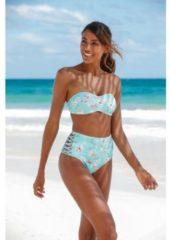 Blauwe Sunseeker highwaist-bikinibroekje