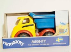Rode Viking Toys Vikingtoys stevige vrachtauto kiepwagen.