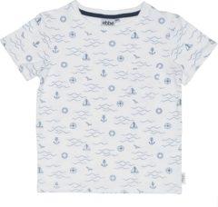 Ebbe - jongens t-shirt - Marcin tee - waves - navy blauw wit - Maat 98