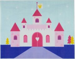 Roze Associated weavers Tapijt Little Princess Castle