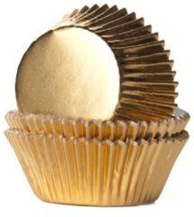 Gouden House of Marie Cupcake vormpjes Folie Goud pk/24