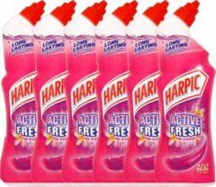 Harpic - Active Fresh Roze Bloesem - Toiletreiniger - 6 x 750ml
