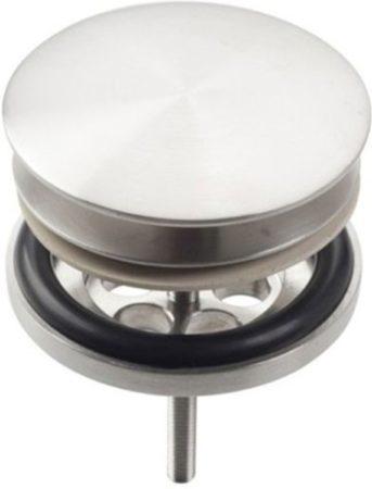 Afbeelding van Roestvrijstalen Clou Pollux plug met afdekkap rvs geborsteld H8cm HI/PO10.27