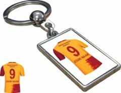 Merkloos / Sans marque Galatasaray Shirt met Jouw Naam Seizoen 20/21 - Sleutelhanger met Jouw Naam en Nummer - Sleutelhanger op naam - Voetbal - Club - Soccer - Verjaardag - Gift - Cadeau - Kado