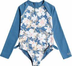 Blauwe Roxy - UV Badpak voor jonge meisjes - Longsleeve - Swim Lovers - Blue Moonlight - maat 92cm