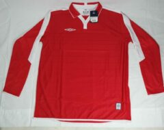 Rode Umbro Old England Home Jersey L red wit shirt
