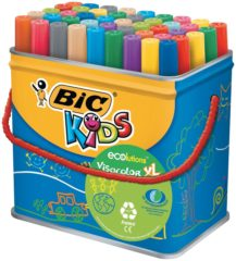 Bic Kids Viltstift Visacolor XL Ecolutions 48 stiften in een metalen doos