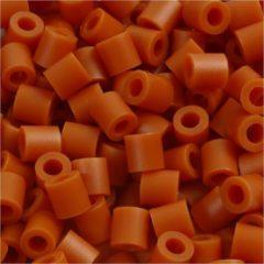 Creotime Strijkkralen, afm 5x5 mm, gatgrootte 2,5 mm, rood bruin (5), medium, 6000stuks