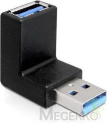 Zwarte DeLOCK 65339 USB 3.0 USB 3.0 Zwart kabeladapter/verloopstukje