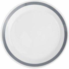 Grijze Salt&Pepper Stripes diep bord - 23 cm - grijs - 6 stuks