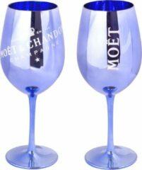 Moet & Chandon blauwe champagneglazen - 2 stuks