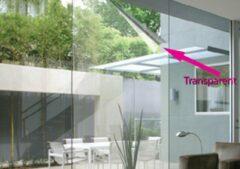 1x Lineafix Clear- Zonwerende Raamfolie statisch (zonder lijm) - 92 x 150cm -Zelfklevend - 99% UV bescherming - Herbruikbaar - Transparant - Zonwerend
