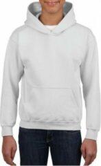Gildan Witte capuchon sweater voor jongens M (140-152)