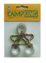 Grijze Campking Stelring 25 mm zak 3 stuks