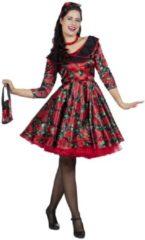 Rode Wilbers Rock & Roll Kostuum | A Whole Lot Of Rosie Jaren 50 Rozen | Vrouw | Maat 42 | Carnaval kostuum | Verkleedkleding