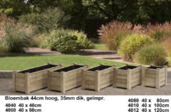 Groene Talen Buitenmeubelen Horst 40X80CM - Bloembak - 40 x 80 x 44 cm