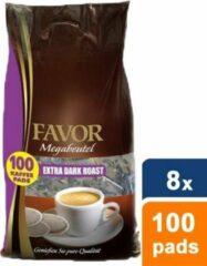 Favor - Extra Dark Roast Megazak - 8x 100 pads