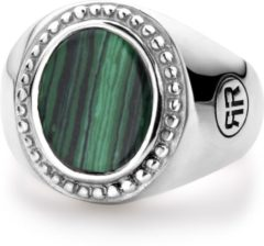 Rebel & Rose Rebel and Rose RR-RG018-S Ring Women Oval Malachite zilver-groen Maat 56