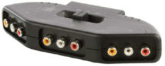 Kabeldirect Valueline Tulp composiet audio video schakelaar - 3-poorts