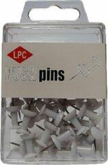 Papierklem LPC Push pins LPC 40 stuks wit