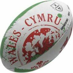 Rode Gilbert rugbybal Wales supporter maat 5