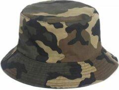 Junglestories Bucket Hat Legerprint Groen Militaire Camouflage Hoedje Verkleden