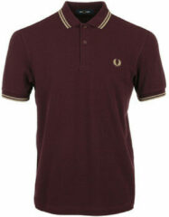 Fred Perry - Heren Polo SS Twin Tipped Polo Mauvewood - Rood - Maat S
