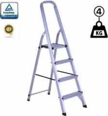EasyStep Huishoudtrap Keukentrap - 4 Treden - Aluminium - Lichtgewicht - Anti-Slip