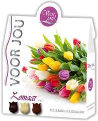 Voor Jou! Cadeau doos trendy bloemen zomaar 100 Gram