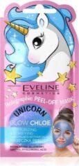 Blauwe Eveline Cosmetics Unicorn Peel Off Mask Glow Chloe 7ml.
