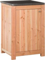 Bruine Koopjetuinspul Woodvision - Buitenkeuken element enkel 90 incl. deur - Douglas - 90x61,5x56 cm