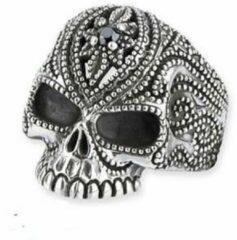 Etnox Zilveren ring Tattoo schedel maat 65