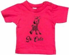Fuchsia Logostar Baby T-shirt met opdruk girafje maat 68