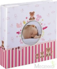 Roze Hama Baby slip-in/memo album Moni 10x15/200 roos