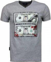 Grijze T-shirt Korte Mouw Local Fanatic Scarface Dollar - T-shirt