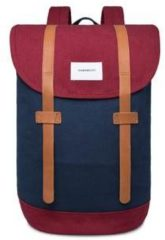 Bordeauxrode Sandqvist Stig Backpack Multi Blue Burgundy/Black