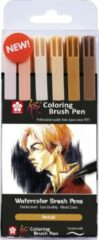 Sakura Koi Coloring Brush Pen set 6 - Portrait